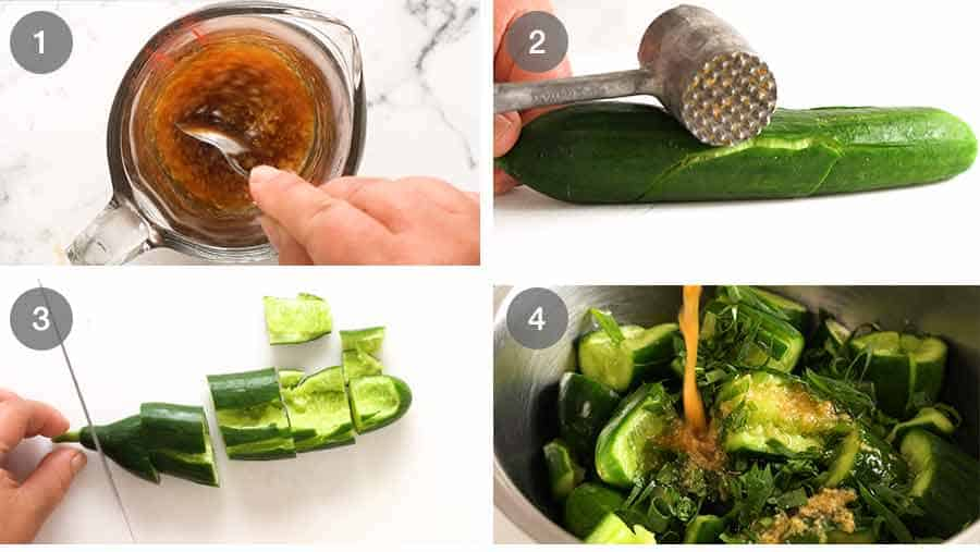 How to make Smashed Cucumbers