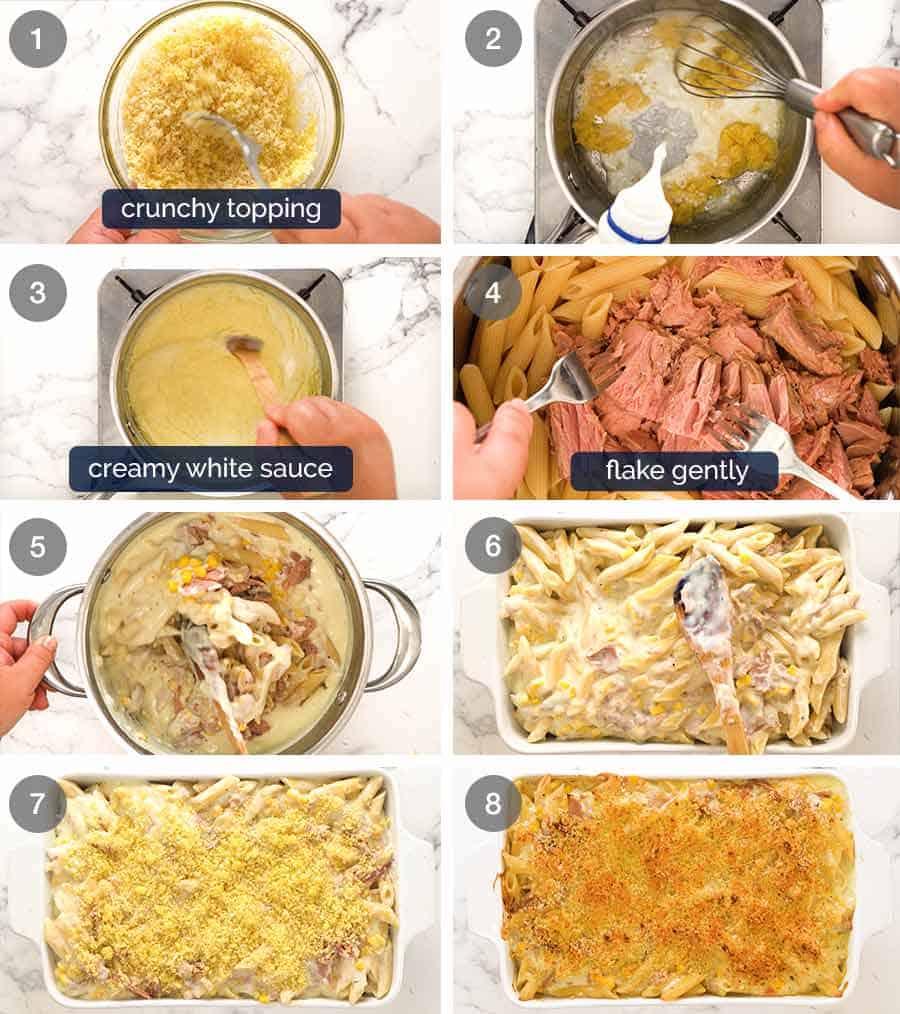 How to make Tuna Casserole (Tuna Mornay Pasta Bake)