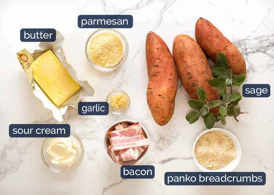 What goes in Browned Butter Sweet Potato Casserole