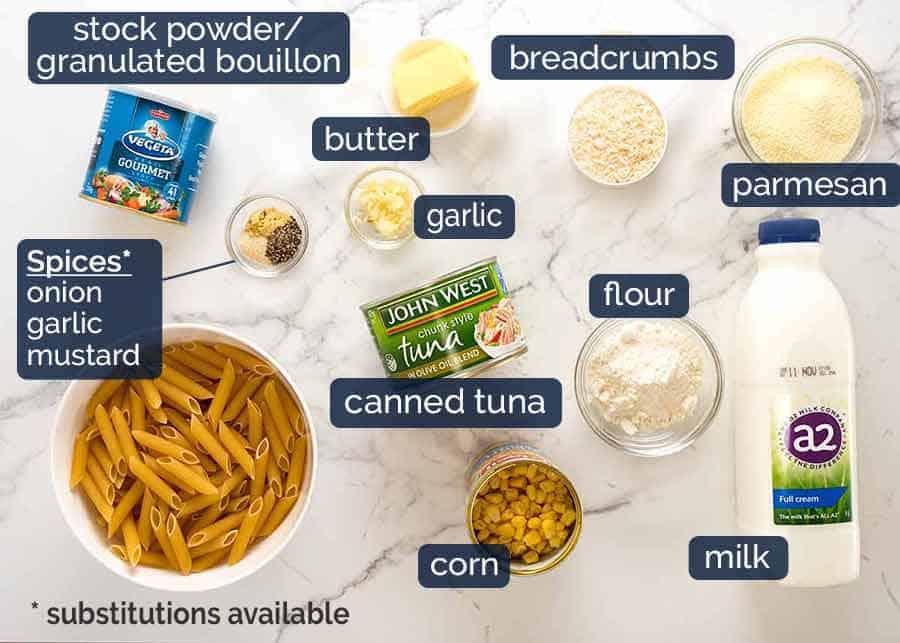What goes in Tuna Mornay (Casserole / Tuna Pasta Bake)