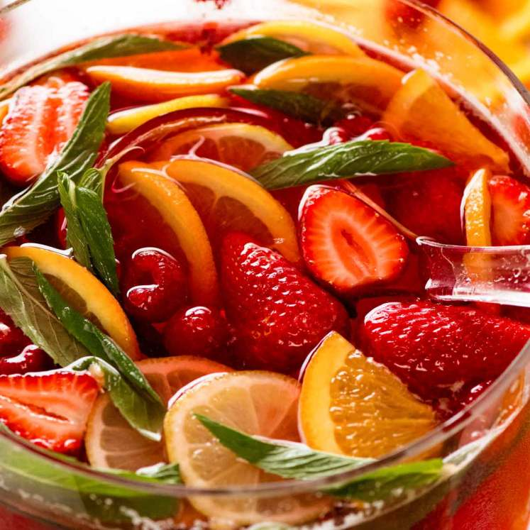 Celebration Fruit Punch (holiday punch recipe)