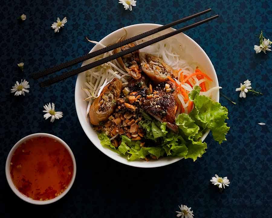 Vietnamese Lemongrass Pork Noodle Bowls - Bun Thit Nuong
