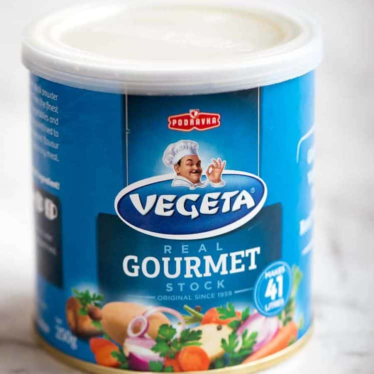 Can of Vegeta stock powder / granulated bouillon