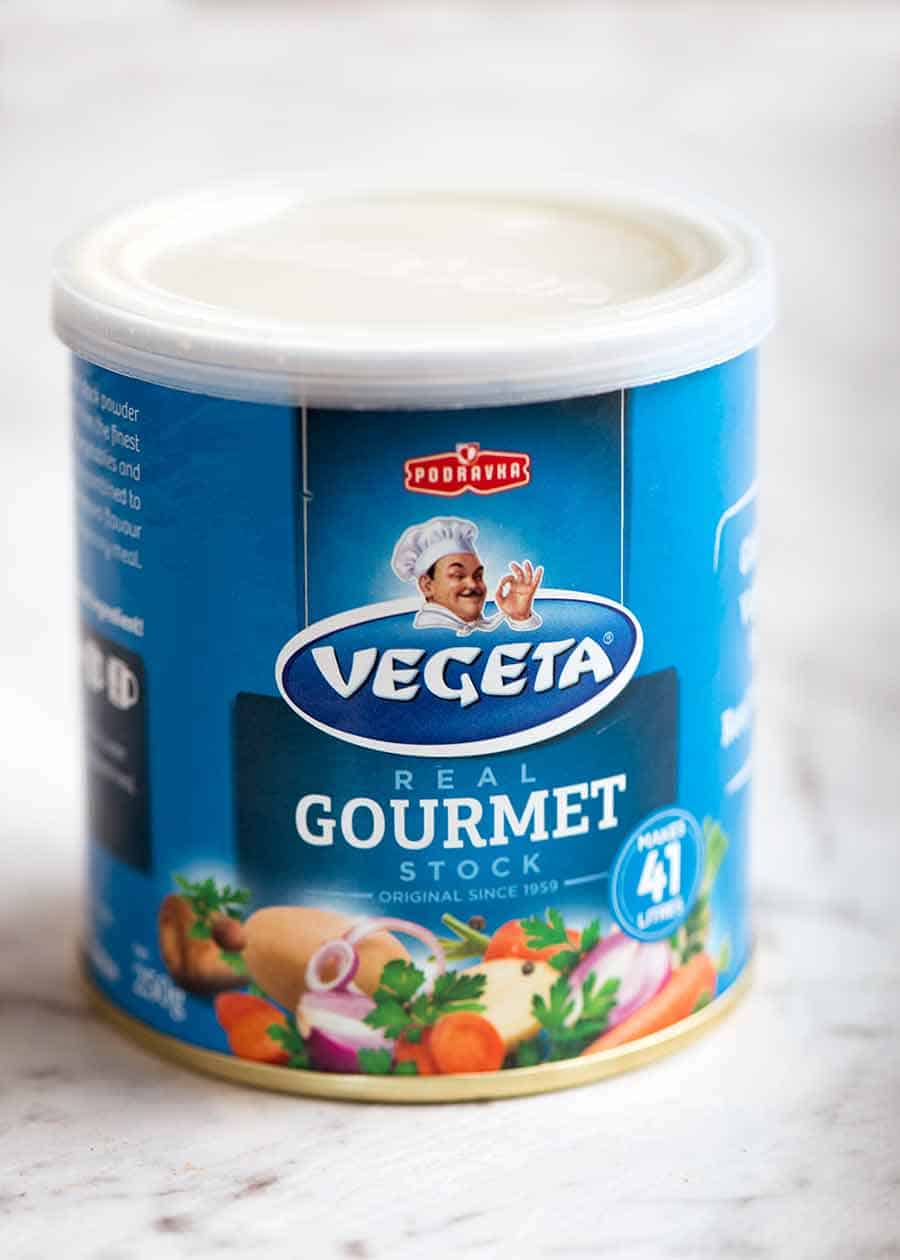 Can of Vegeta stock powder / granulated bouillon