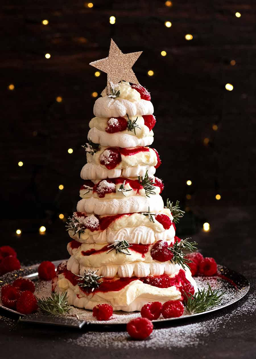 Pavlova Christmas Tree Dessert