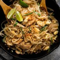 Chicken Pad Thai fresh off the stove ready to be served