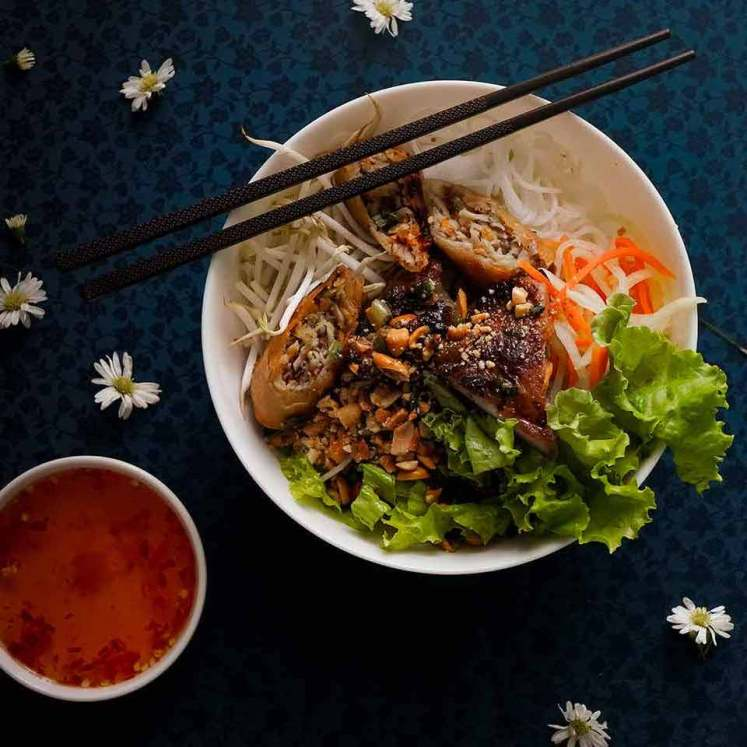 Vietnamese Lemongrass Pork Bowls in Saigon
