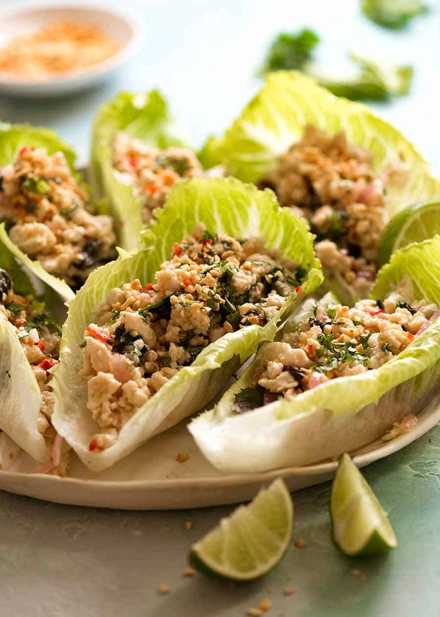 Plate of Thai Lettuce Cups