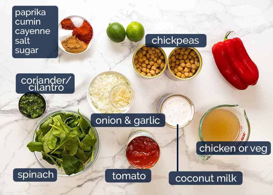 Brazilian Chickpea Curry ingredients