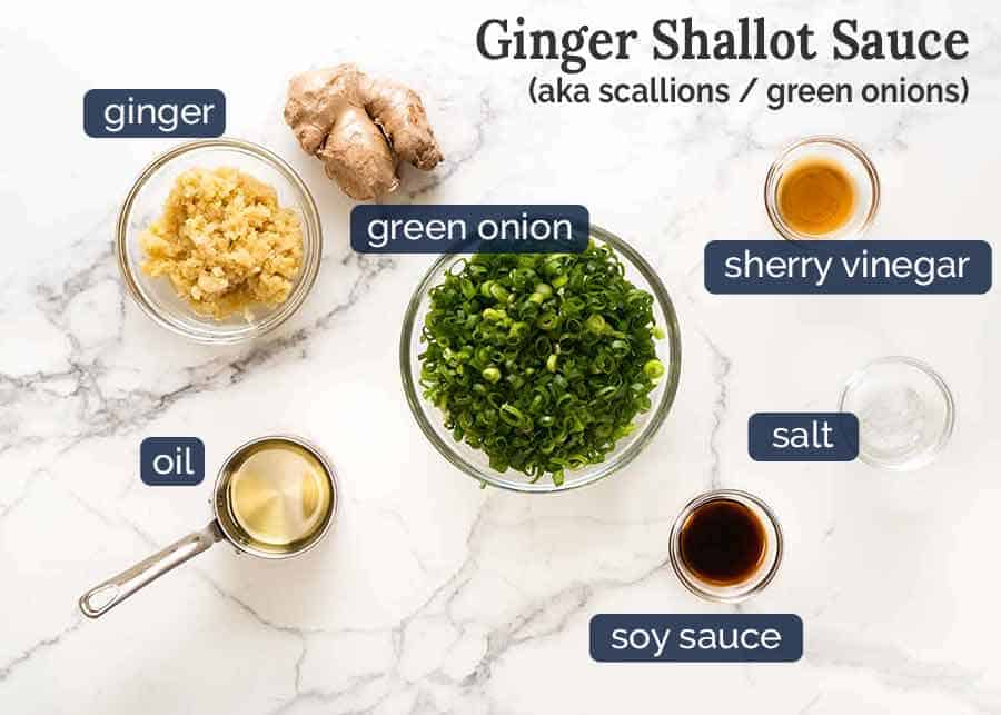 Ginger Shallot Sauce for Momofuku Bossam