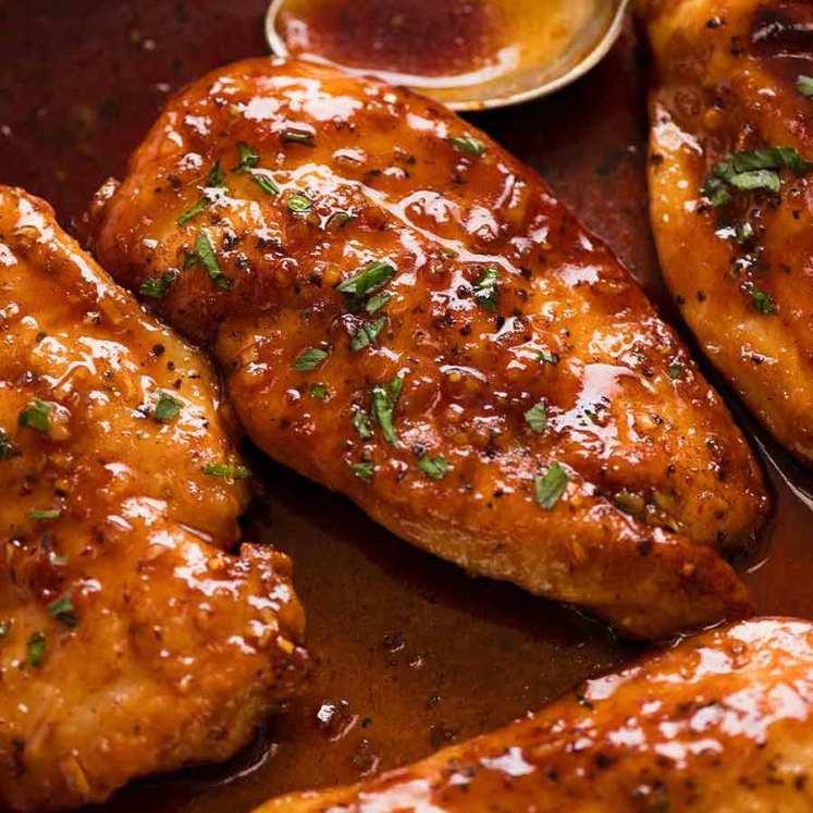 Honey Garlic Chicken breast recipe - incredible 5 ingredient sauce for chicken