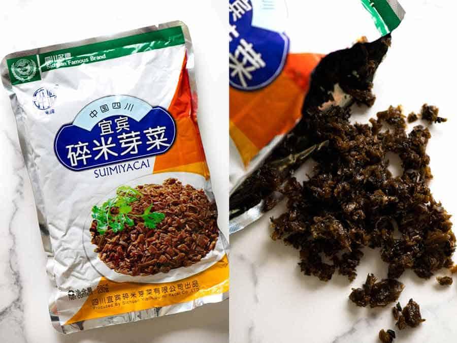 Sui Mi Ya Cai pickled mustard greens for Dan Dan Noodles