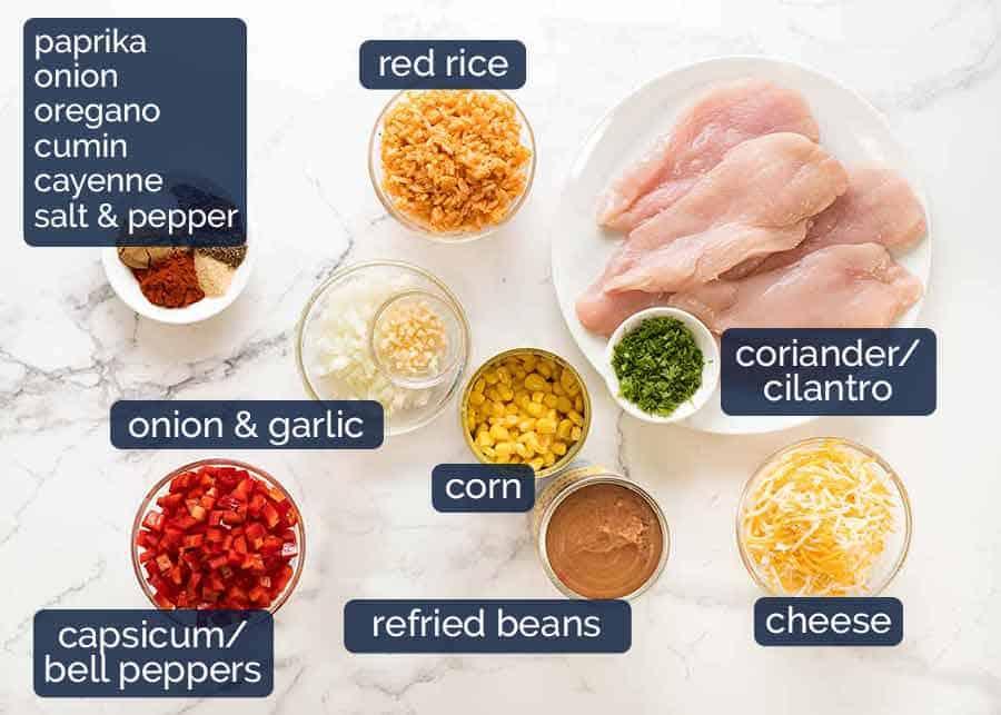 Ingredients in Chicken Burrito