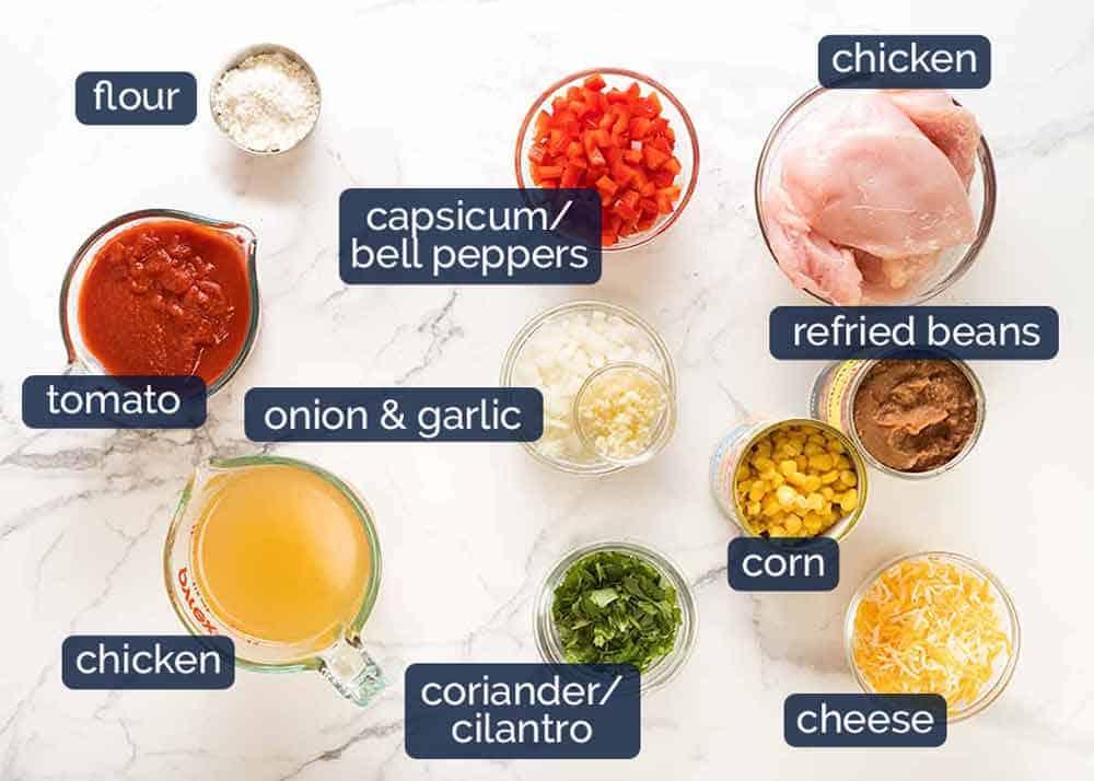 What goes in Chicken Enchiladas