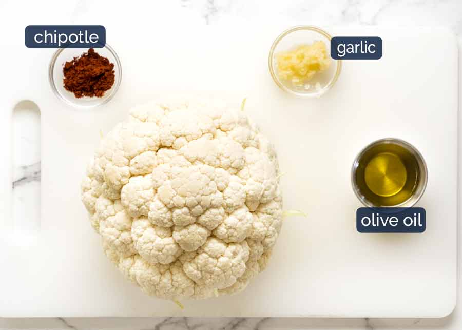 Ingredients in Chipotle Lime Roasted Cauliflower