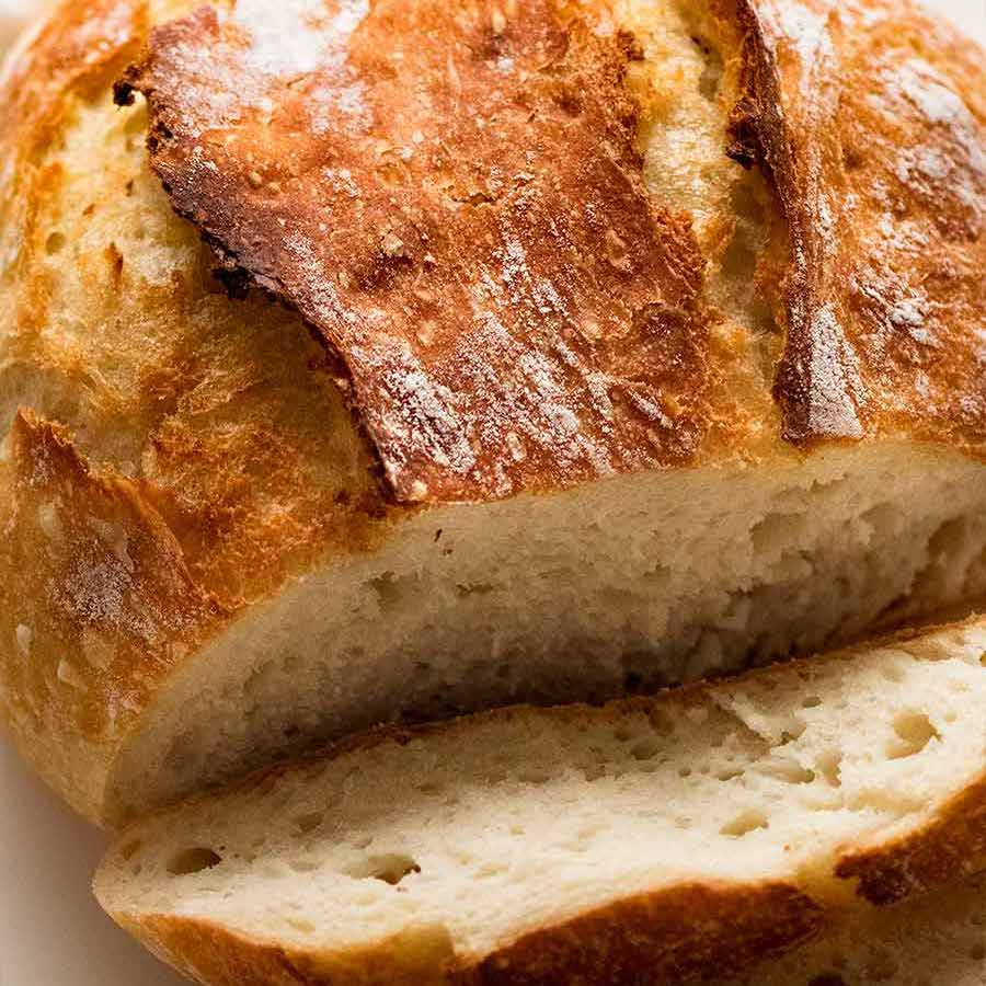 World S Easiest Yeast Bread Recipe Artisan No Knead Crusty Bread Recipetin Eats