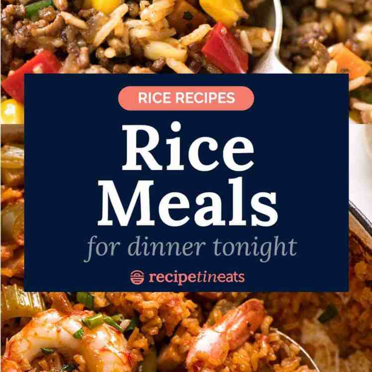 Rice recipes - easy rice meals for dinner