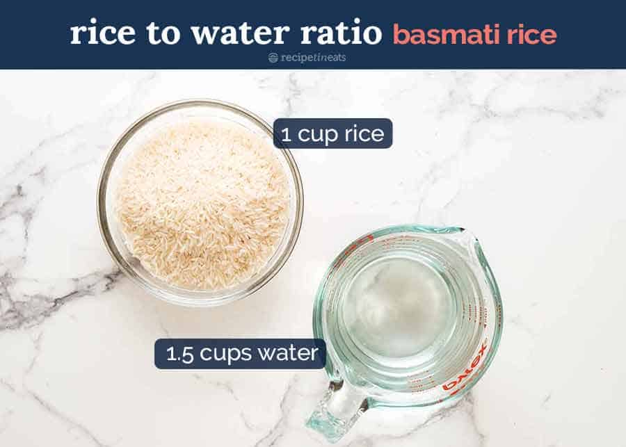 Rice to water ratio for Rice