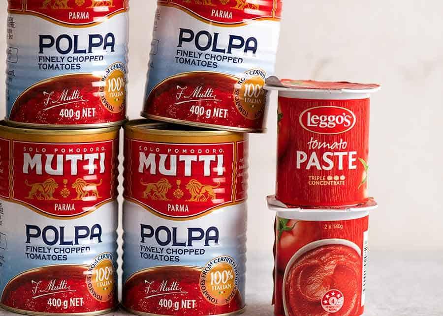 Canned tomato and tomato paste - Coronavirus pantry stocking