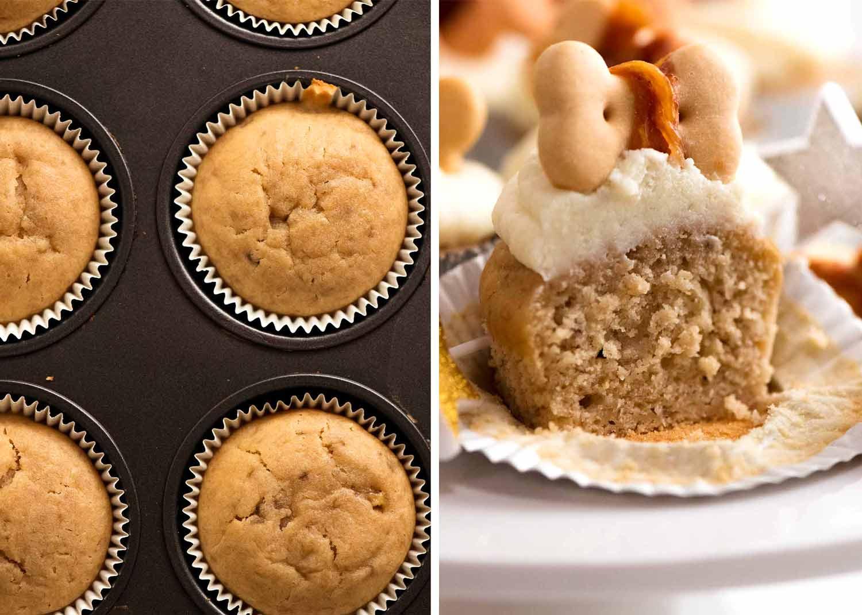 Showing moist, tender inside of Pupcakes