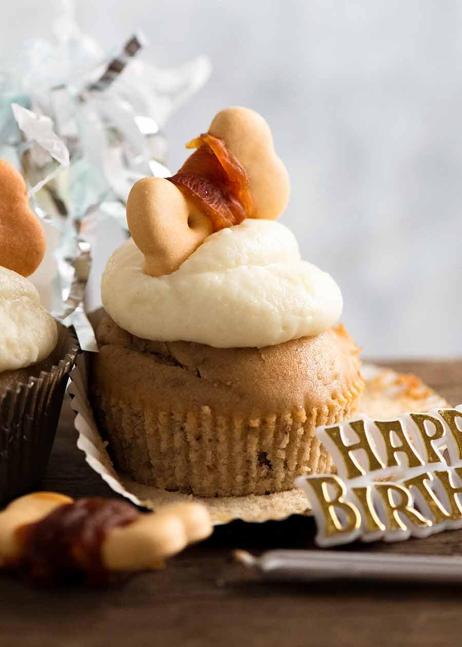 Astounding Pupcakes Dog Cupcakes With Frosting Recipetin Eats Funny Birthday Cards Online Hendilapandamsfinfo