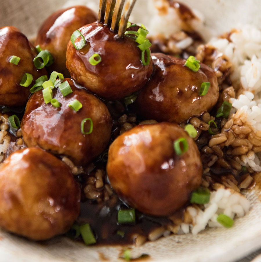 Teriyaki Chicken Meatballs - chicken mince recipe