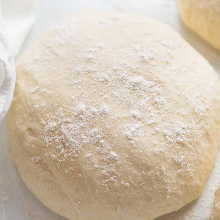 Ball of Pizza dough for homemade pizza crust