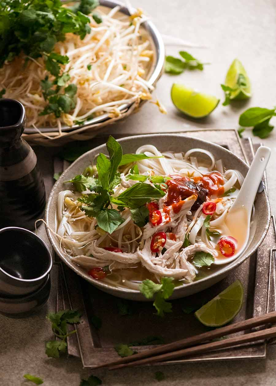 Bowl of Vietnamese Chicken Noodle Soup - Pho Go