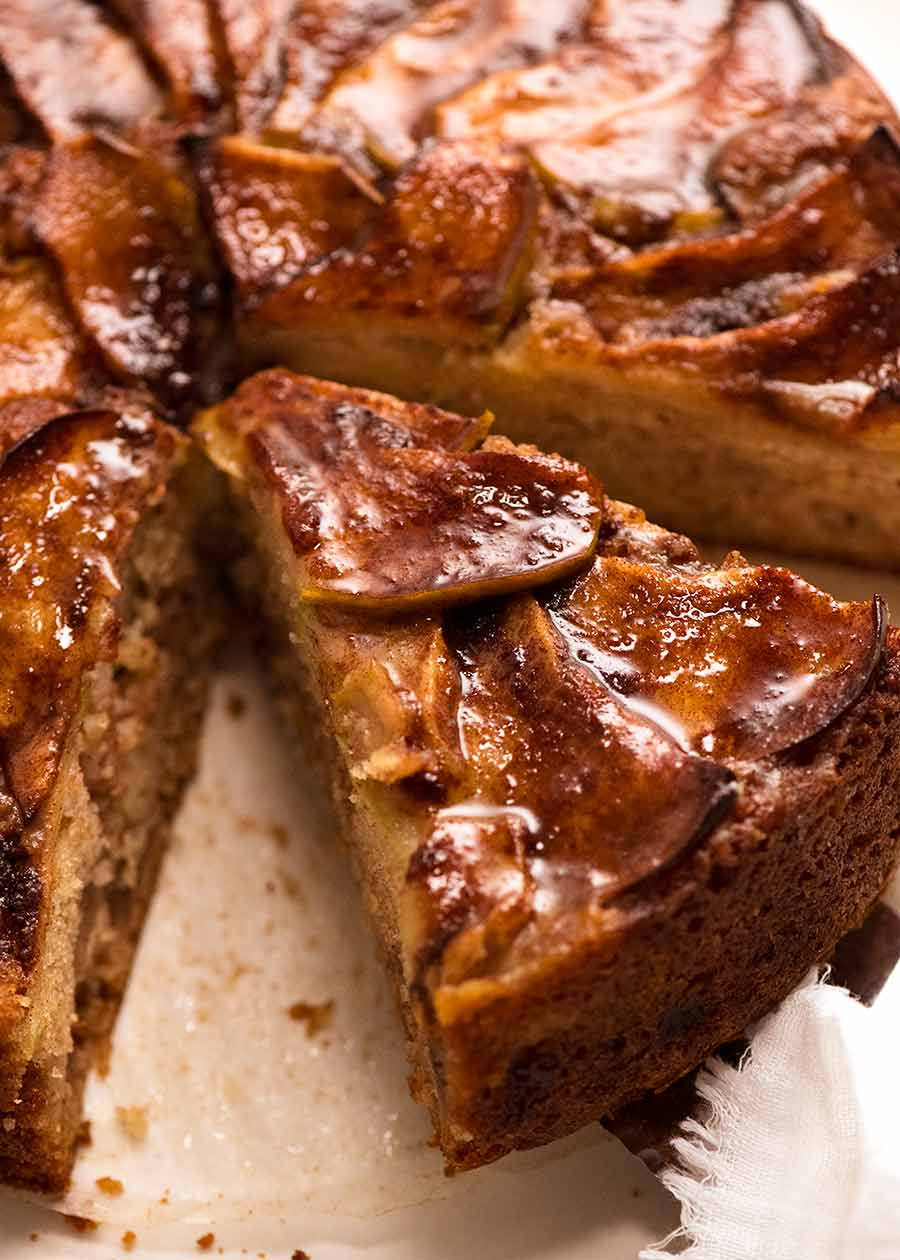 Slice of Cinnamon Apple Teacake