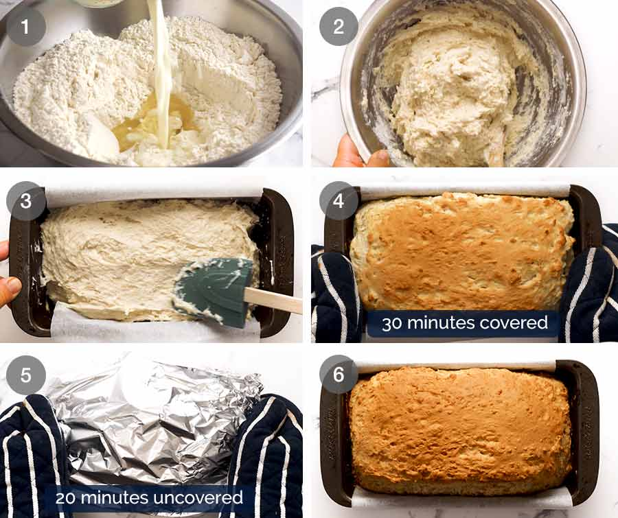 How to make sandwich bread without yeast
