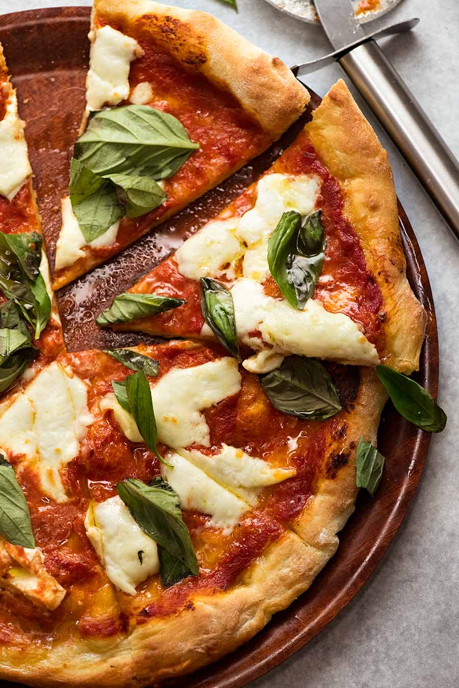 Margherita Pizza (buffalo mozzarella and basil)