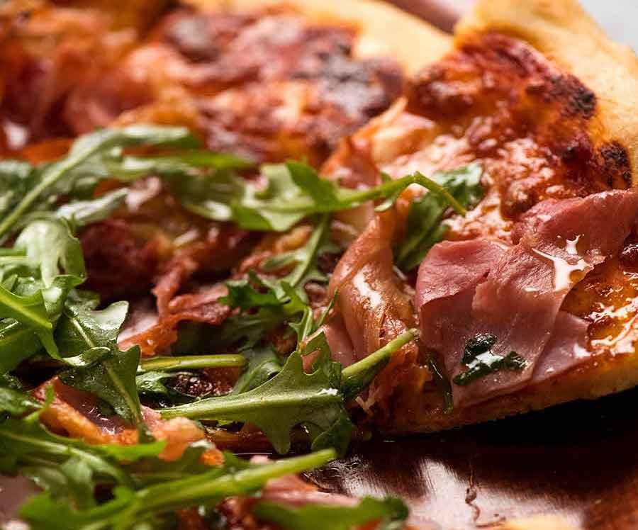 Homemade Rocket Prosciutto Pizza