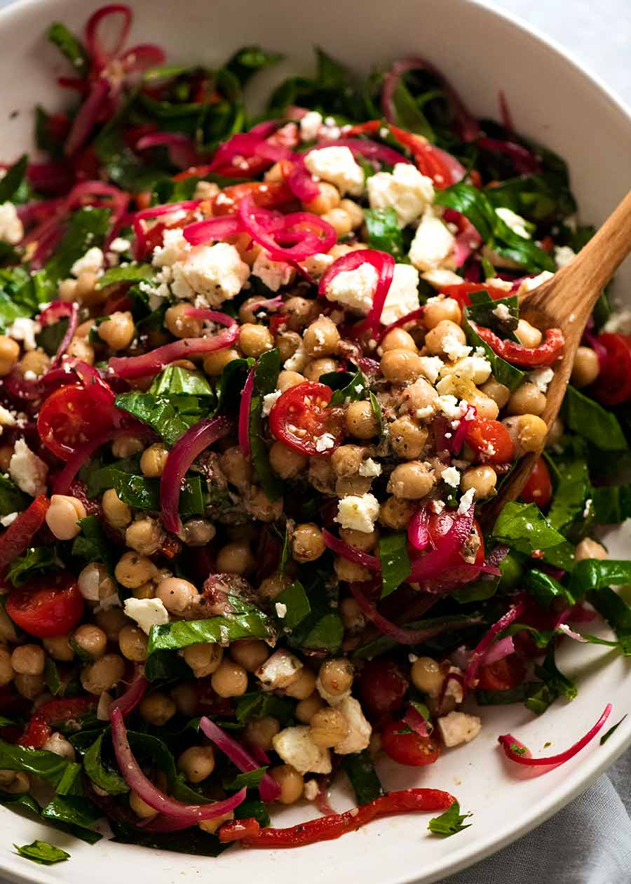 Greek Marinated Chickpea Salad