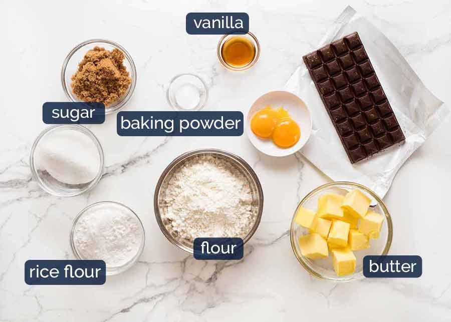 Ingredients in Byron Bay Chocolate Chip Cookies