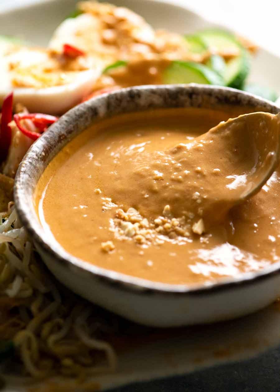 Gado Gado peanut sauce in a bowl