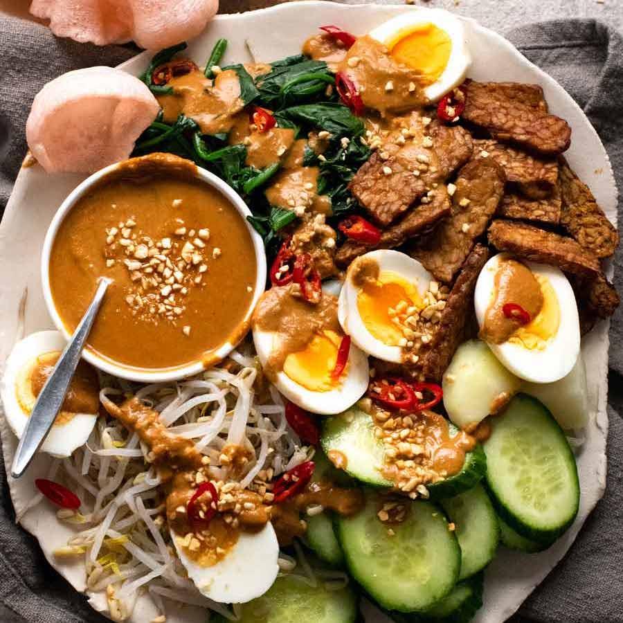Gado Gado (Indonesian salad with peanut sauce) | RecipeTin Eats