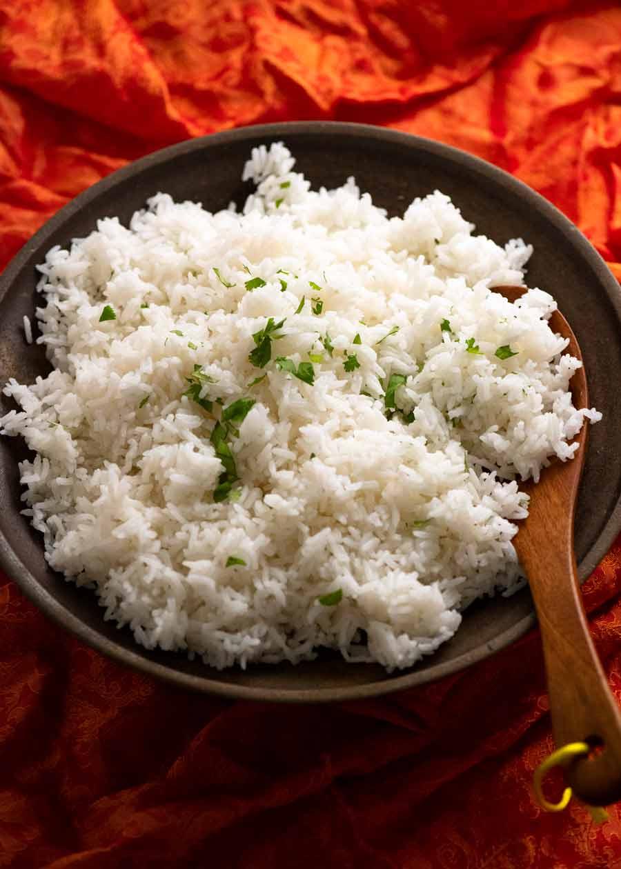 Plate of Jasmine Rice