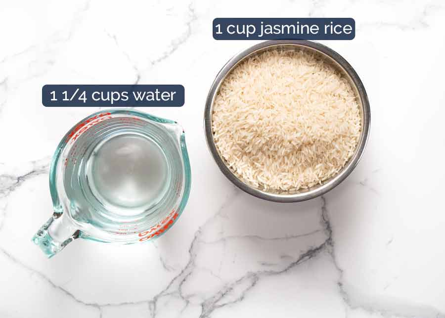 Water to rice ratio - jasmine rice