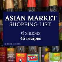 Asian market shopping list