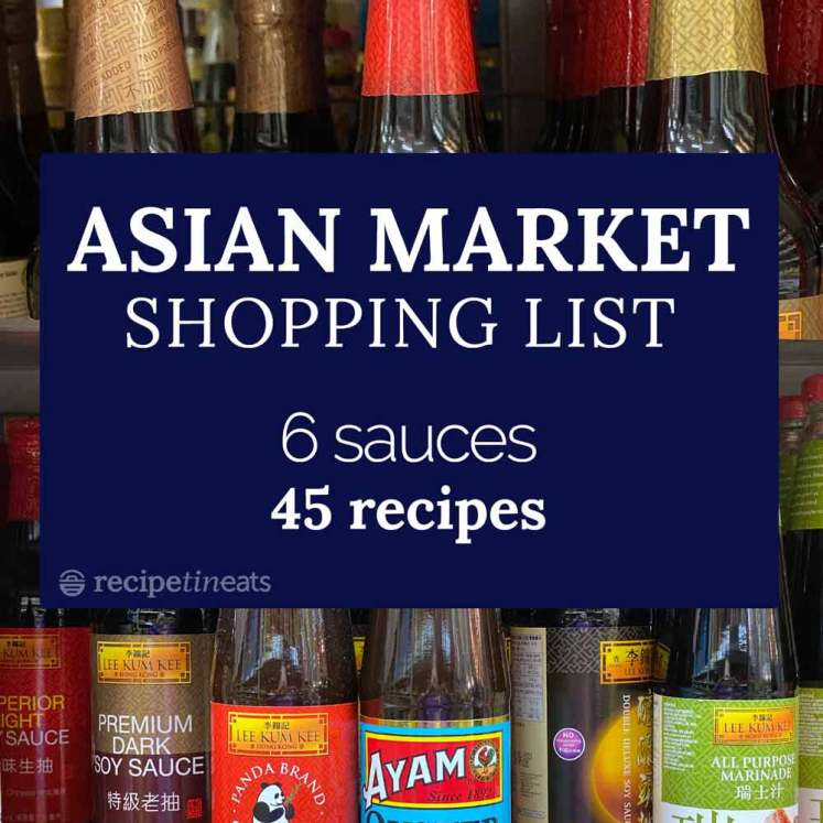 Asian market shopping list