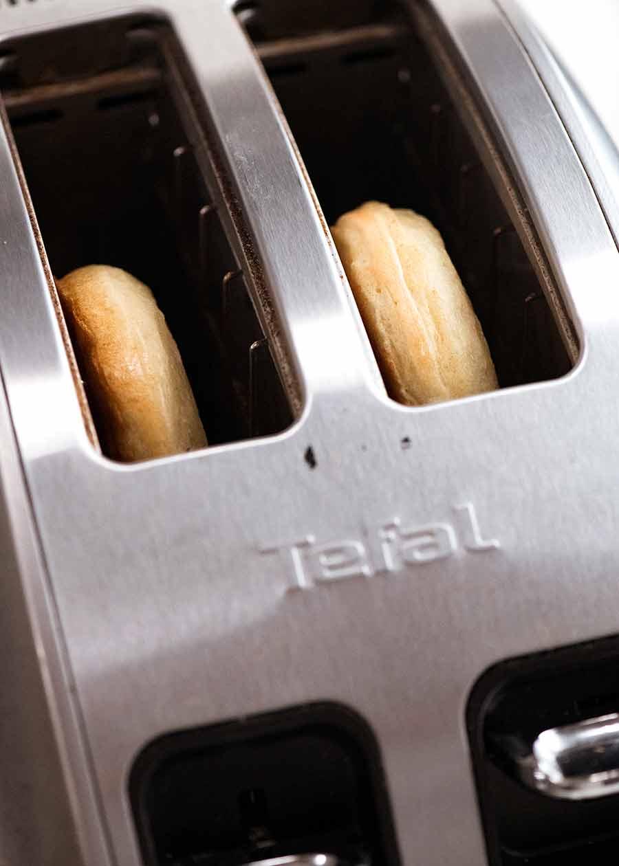 Toasting crumpets