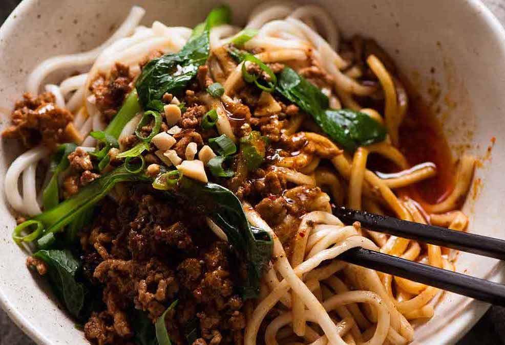 Dan Dan Noodles close up
