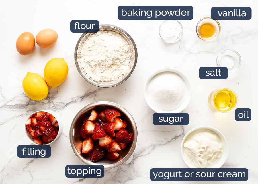 Ingredients in Strawberry Cake