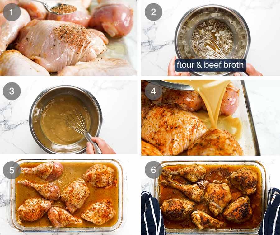 How to make Gravy Baked Chicken
