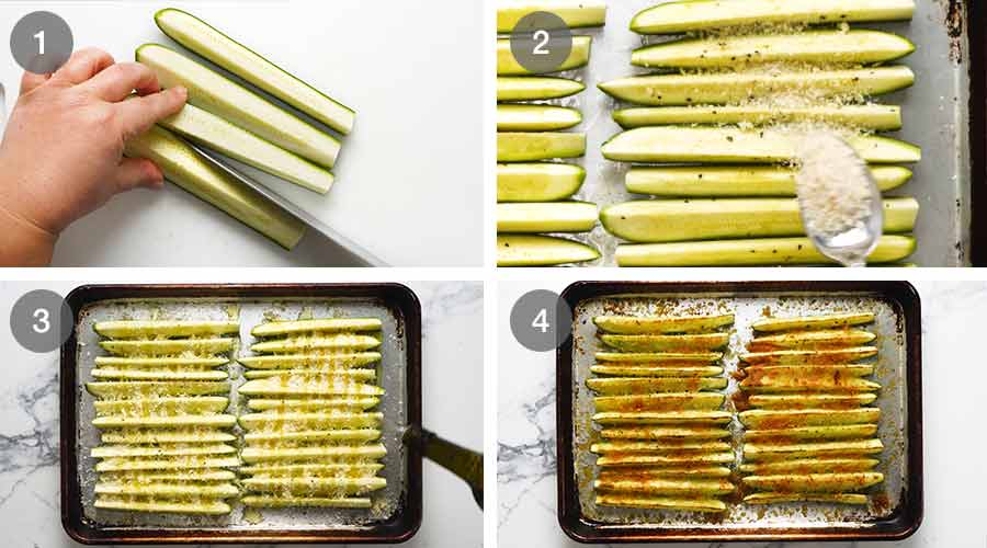 How to make baked zucchini (courgettes)