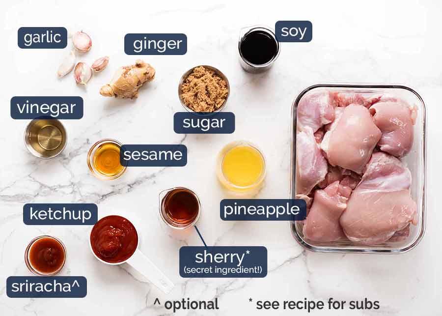Hawaiian Huli Huli Chicken marinade ingredients