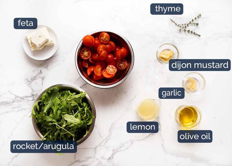 Roasted Eggplant Lentil Salad ingredients