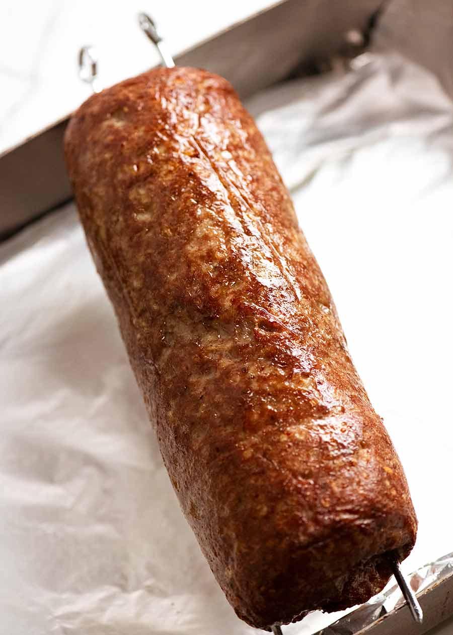 Homemade rotisserie Doner Kebab Meat
