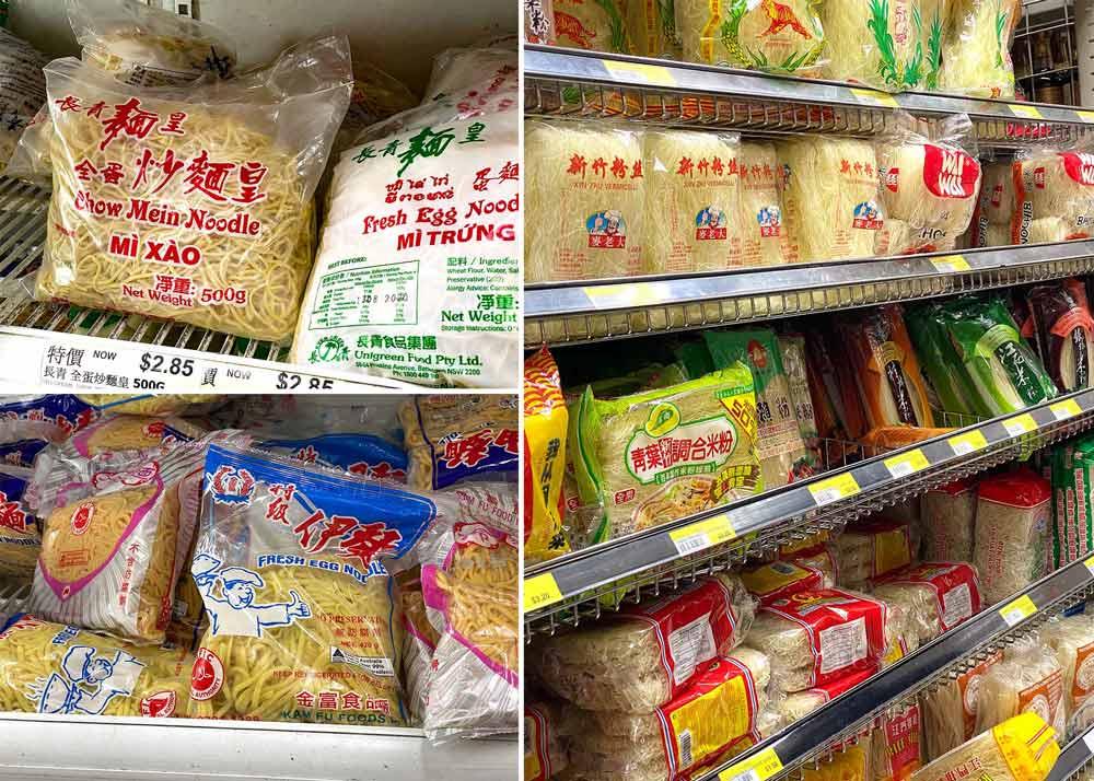 Noodles at Asian market