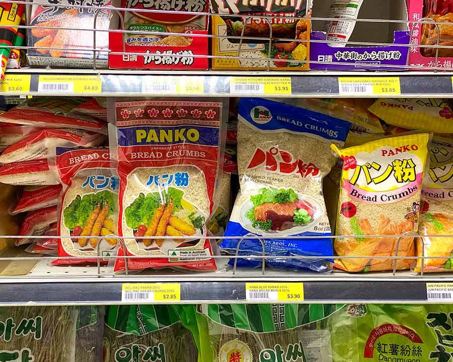Panko breadcrumbs at Asian market